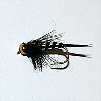 BLACK STONEFLY GOLD HEAD NYMPH Trout & Grayling Fly fishing flies