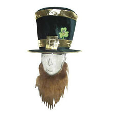 St.Patricks Day Irish Leprechaun Top Hat Beard Costume St. Patrick's Party 7223