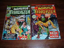 Frankenstein 1-4,10,14,17,18----lot of 8 comic books