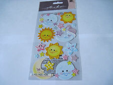 Scrapbooking Stickers Sticko Twinkle Twinkle Baby Sun Moon Stars Sleepy Time