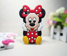 Cover CUSTODIA per IPHONE 4,4S Silicone MINNIE TOPOLINA 3D/Silicon Case 3d