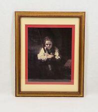 "Rembrandt Van Rijn ""Girl with broom"" Print matted & framed glass 16x12 EC"