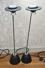 MID-CENTURY MODERN HI-FI LUCI TABLE PAIR LAMPS DESIGN G. MEDEOT MADE IN ITALY