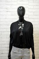 GUESS Mantella Maglione Cardigan Donna Taglia XL Sweater Pullover Nero Modal
