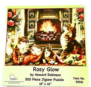 SunsOut Rosy Glow 500 Jigsaw Puzzle By Howard Robinson  Item 59361 Rare 2006