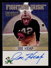 Joe Heap 2003 TK Legacy Notre Dame Fighting Irish Autograph Auto Card FI4