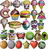 Fruits Veges Ice Cream Pizza Donuts Burger Cupcake Balloon Birthday Party Supply