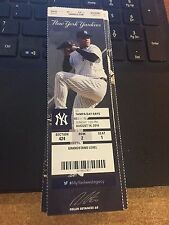 2016 NEW YORK YANKEES VS RAYS AARON JUDGE HR 8/14 Ticket Stub MARIANO RIVERA DAY