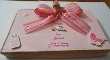 Geschenkverpackung Geburt Mädchen Handarbeit