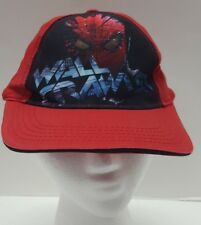 Spider Man Red Hat Cap Strapback Wall Crawler Youth One Size Fits Most