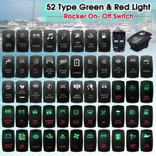12V 24V coche barco Marina SUV Verde y Roja Dash doble interruptor luz LED