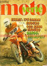 MOTO VERTE  66 KAWASAKI KDX 400 CAN-AM 175 Qualifier Jean Claude OLIVIER 1979