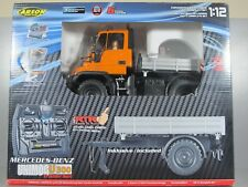 Carson 1/12 Mercedes Unimog U300 +Trailer +Sound +Light +Battery +Charger Tamiya