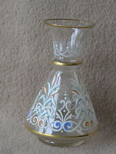 ANTIQUE BOHEMIAN HARRACH MOSER GLASS VASE WITH ENAMELLED CLASSIC REVIVAL STYLE D