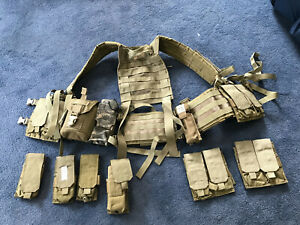 US Army Special Forces Load Carrying System SFLCS vest and pouches MOLLE, Eagle