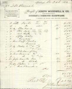1862 Pittsburg Pennsylvania (PA) Joseph Woodwell and Co. S.M. Harrick