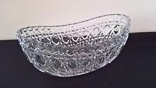 2 ovale Schalen Kristallglas Glasschale Schiffchen Jardiniere vintage 50er