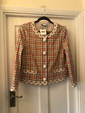 New Moschino Cheap & Chic Check & Lace Vintage Look Blazer Jacket,46/14