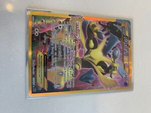 Alakazam EX 125/124 FULL ART SECRET RARE - Fates Collide Pokemon TCG Card NM
