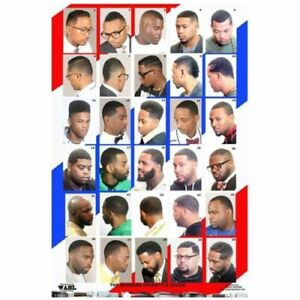 24 X 36 BARBER SHOP POSTER MODERN HAIR STYLE GUIDE FOR MEN YOUTH AND KIDS
