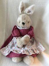 Vintage Gray Country Bunny Rabbit 1986 Chadwick-Miller Plush Stuffed Toy Korea
