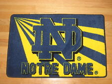 """Notre Dame Fightin' Irish 20"""" x 30"""" Logo Tufted Rug With Non-Skid Rubber Backing"""