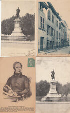 Lot 4 cartes postales anciennes MACON Lamartine
