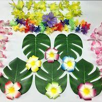 Polyester Hawaiian Tropical Palm Leaves Hawaiian Luau Party Jungle Beach Theme