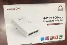 GEEYA  4-Port Powerline 500 AV Adapter -AV50 (H25C1)
