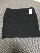 Michael Kors Size 10 Black Pencil StretchSkirt Exposed Silver Zipper In Back NWT