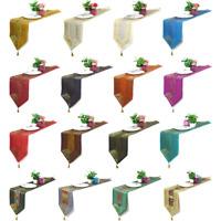 "Handmade Silk Brocade Table Runner Kitchen Dining Tablecloth Home Decor 12""x72"""