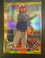 2019 Bowman Chrome Bo Bichette Canary Gold Refractor Rookie Rc # /75 Blue Jays S