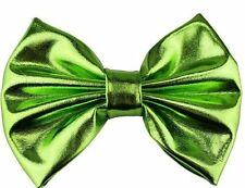 Messy Metallic Bow Hair Clip(Lime)