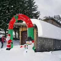 7.87ft Inflatable Santa Claus Arch Christmas Archway Sugar Cane Cut Outdoor Gift