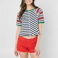 Free People Womens May OB800180 Top Skinny Multicolour Size XS