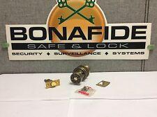 Schlage Button Block-F31S Dover: Antique Brass Finish