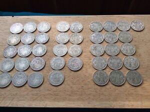 George V ,Vl . Pre 1947 .500 Silver Half Crowns X 40. (£5 Face Value).