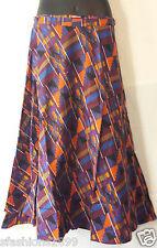 African Kente Fabric Cloth wrap around Skirt Maxi Vintage 70s Free size Print #5