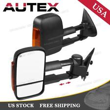 Left+Right Power Heated Telescoping Towing Mirrors for 2003-07 Silverado Sierra
