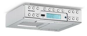 Karcher RA 2030D Unterbau Küchenradio mit DAB+ / UKW Radio Wecker Dual-Alarm USB
