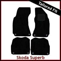 Skoda Superb Mk1 2001-2008 Tailored Fitted Carpet Car Floor Mats BLACK