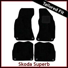 Skoda Superb Mk1 2001 - 2006 2007 2008 Tailored Fitted Carpet Car Mats BLACK