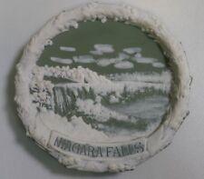 Circa 1910 German Jasperware Pin Tray/Hanging Wall Plate Niagara Falls Souvenir