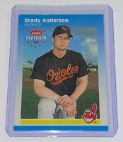 2002 Fleer Platinum /202 Brady Anderson #105 MLB Cleveland Indians Baseball Card