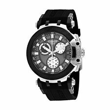 Tissot T1154172706100 Men's T-Race 43mm Silicone Band Quartz Watch - Black