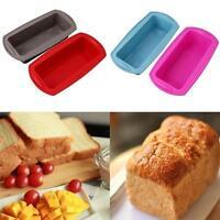 Rectangular Toast Bread Silicone Baking Mold Pan Cake Mould Bakeware Kitchen S