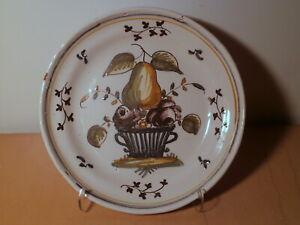 Assiette ancienne 18 siècle faience Grenoble La Tronche Très Cloitre France