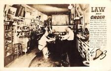RPPC BUCKET OF BLOOD SALOON Virginia City, NV Bar Interior ca 1940s Postcard