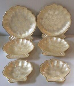 6 Vintage Shell Design Serving Platters