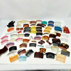 HUGE LOT OF VTG HAIR COMBS ACCESSORIES FRANCE GERMANY USA GOODY 60's 70's 80's